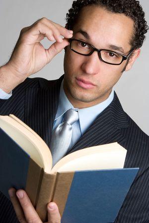 Black Man Reading Stock Photo - 4734288