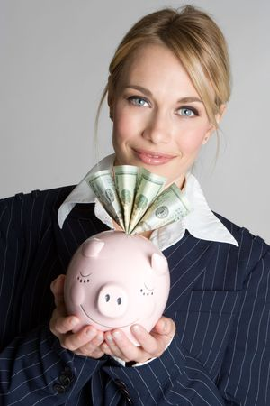 Piggy Bank Woman Stock Photo - 4733751