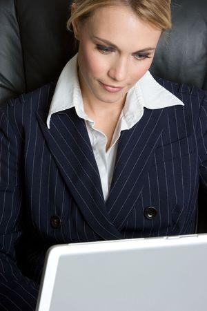 Businesswoman on Laptop Stock Photo - 4760049