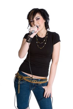 Rockstar Girl Singing photo