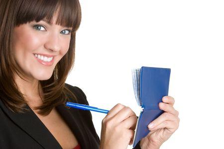 Woman Writing Checks Stock Photo - 4760044