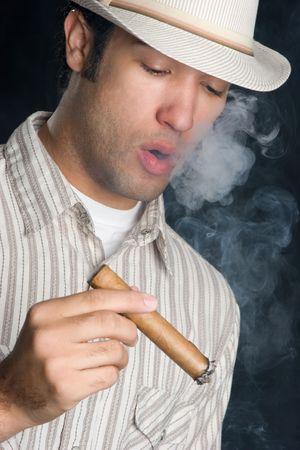 Young Man Smoking Stock Photo - 4779897