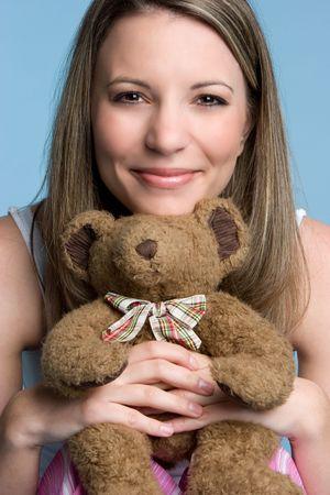 Girl Holding Teddy Bear Stock Photo - 4779901