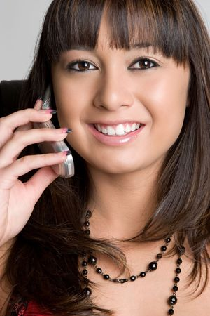 Smiling Phone Woman Stock Photo - 4779945