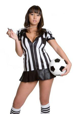 arbitri: Arbitro Girl Archivio Fotografico
