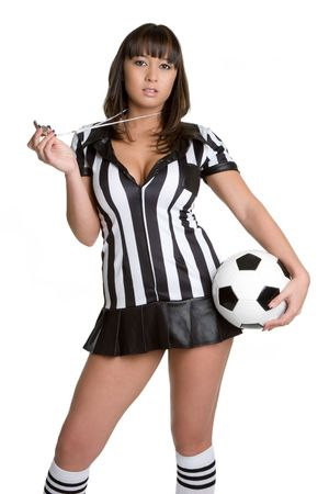 costume ball: Referee Girl Stock Photo