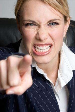 Mad Businesswoman Stock Photo - 4779918