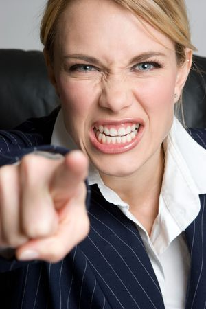 angry boss: Mad Businesswoman