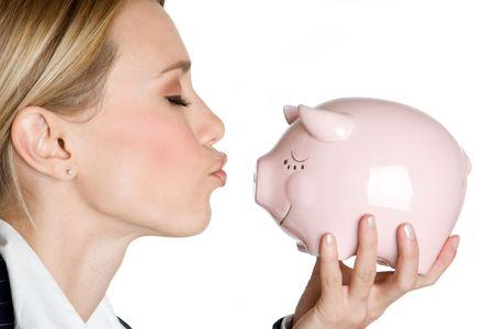 Kissing Piggy Bank Stock Photo - 4779933