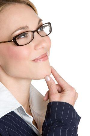 chica pensando: Pensar Businesswoman