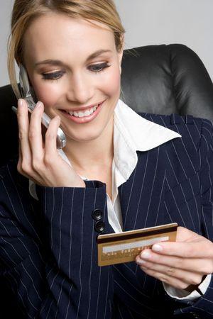 Woman Credit Card Shopping Stock Photo - 4810075