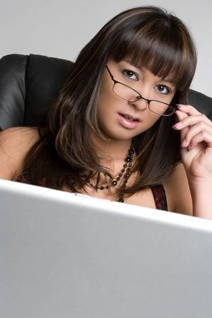 Laptop Businesswoman Stock Photo - 4810086