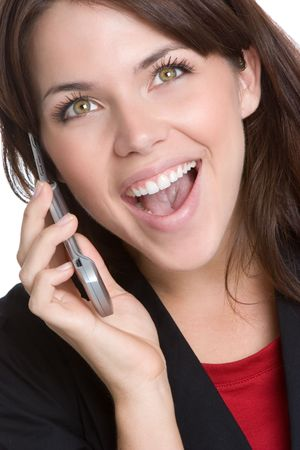 Laughing Phone Woman Stock Photo - 4810077