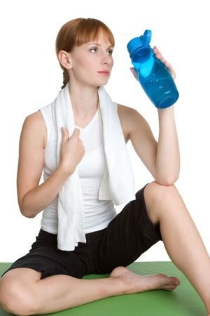 Fitness Woman Drinking Water photo