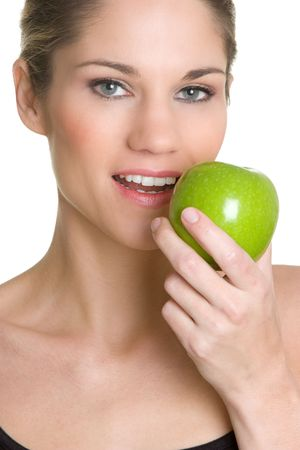 Woman Eating Apple Stock Photo - 4817166