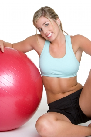 fitness ball: Young Fitness Girl