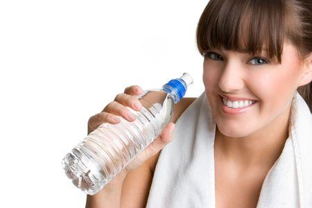 Girl Drinking Water Zdjęcie Seryjne