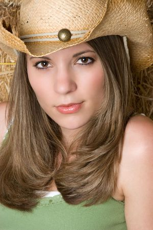 Sexy Country Girl Stock Photo - 4855292