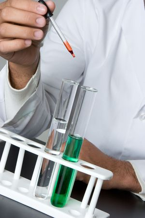 Eye Dropper and Test Tube Stock Photo - 4844771