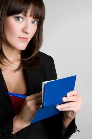 Woman Writing Check Stock Photo - 4870247