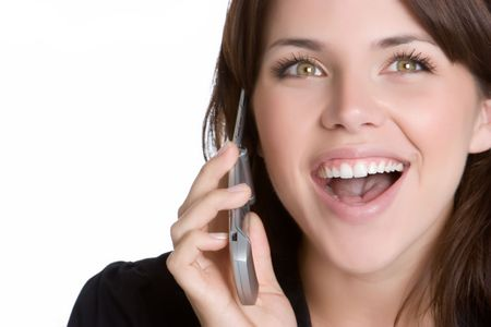 mobile telephones: Smiling Phone Woman