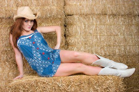 head wear: Redhead Cowgirl
