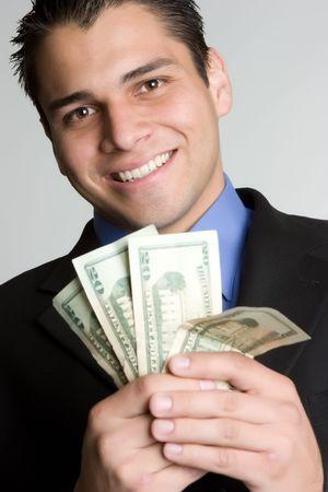 Handsome Money Man Stock Photo - 4870254