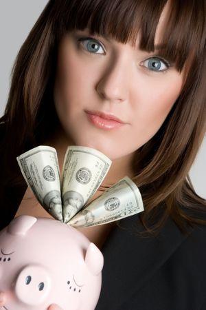 Piggybank Woman Stock Photo - 4870257