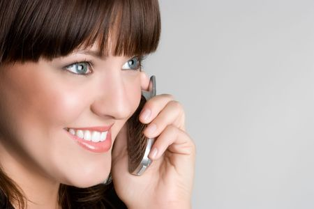 Cell Phone Woman Stock Photo - 4870264