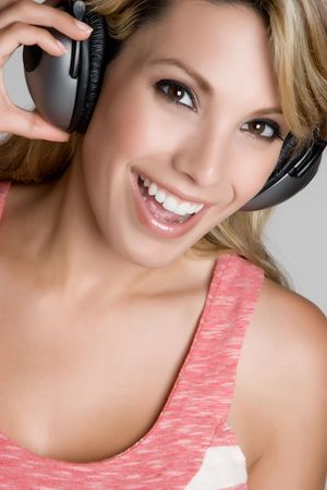 Girl Listening to Music Stock Photo - 4870258