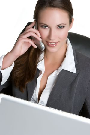 Beautiful Businesswoman Smiling Stock Photo - 4870270