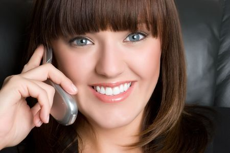 Smiling Businesswoman on Phone Stock Photo - 4894056