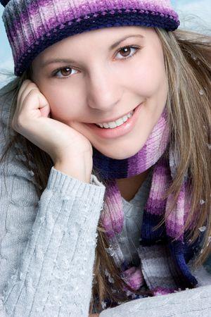 beanies: Winter Girl Smiling