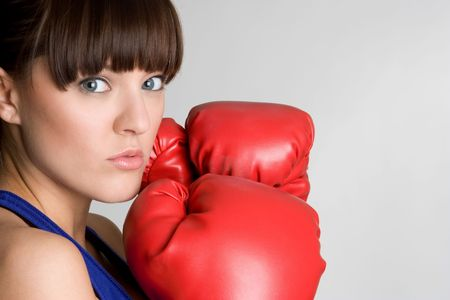 Boxing Girl Stock Photo - 4918225