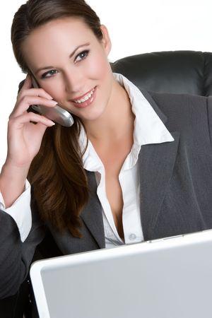 Computer Phone Woman Stock Photo - 4925951
