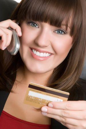 Credit Card Phone Woman Stock Photo - 4925952