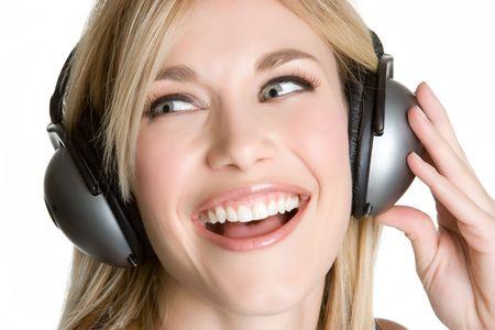 Girl Singing to Music photo