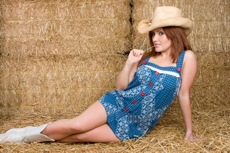 barn boots: Country Girl in Hay LANG_EVOIMAGES