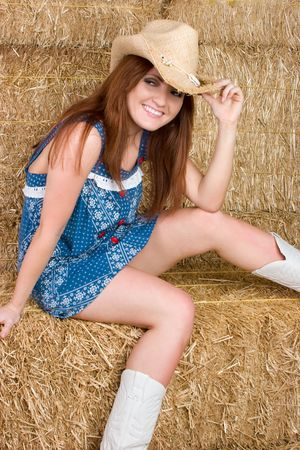 barn boots: Country Girl Smiling