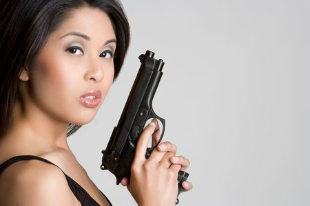 Handgun Woman Stock Photo - 4946489