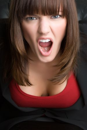 Mad Businesswoman photo