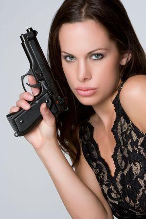 Sexy Woman With Gun Stock Photo - 4946478