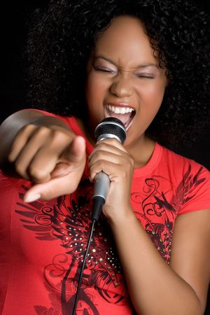 kareoke: Beautiful Woman Singing LANG_EVOIMAGES