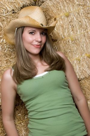 Pretty Country Girl Stock Photo - 4946504