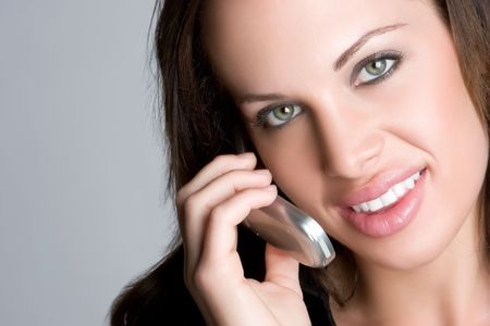 Woman on Cell Phone Stock Photo - 4946501