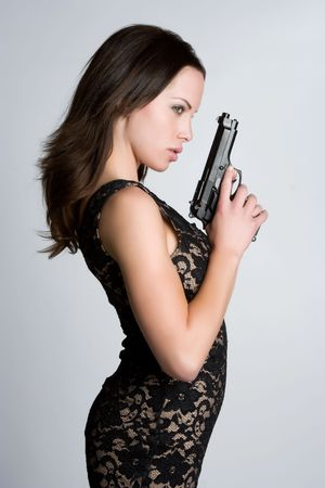 Gun Girl Stock Photo - 4970108