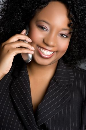 Smiling Phone Businesswoman Stock Photo - 4970111