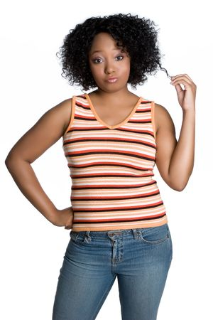 Isolate Black Woman Stock Photo - 4961368