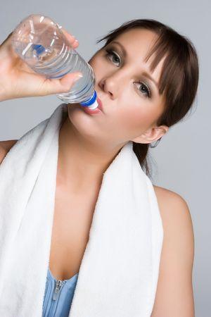 Water Drinking Girl Stock Photo - 4970101