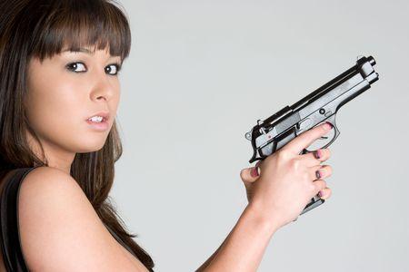 Gun Woman Stock Photo - 4977193